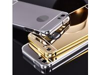 iphone 5 5s 6 6s mirrored reflection case cover new