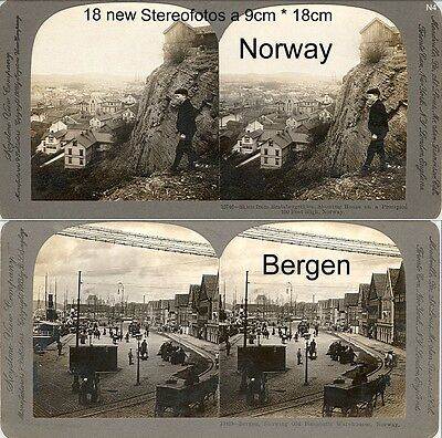 18 Stereoviews Norway, Norwegen, Christiania,  Lot 4
