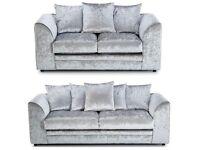 Crushed velvet corner sofa brand new always in stock