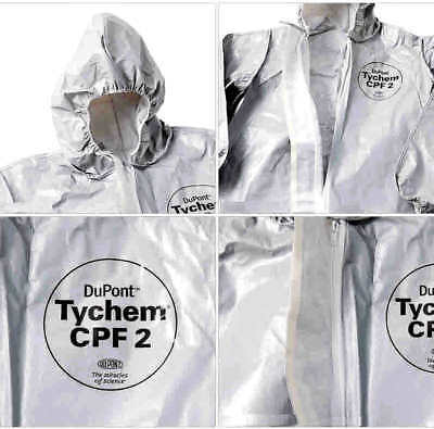 Dupont Tychem Cpf2 Chemical Protective Suit - Size Medium C2122t - Brand New