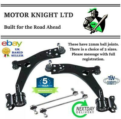 FORD C-MAX 07-11 MK2 FRONT LOWER SUSPENSION CONTROL ARM WISHBONES & LINKS 21mm