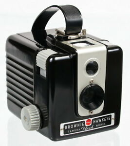 Kodak Brownie Hawkeye  Flash Model Bakelite Camera