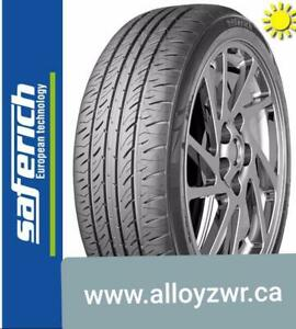 4 Pneus dete neufs Saferich 215/55r16    /  4 Summer tires new Saferich 215/55/16  STDD18