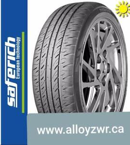 4 Pneus dete Runflat neufs saferich 245/50r18    / 4 Summer tires new Saferich runflat 245/50/18