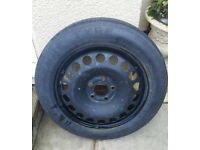 Vauxhall space saver spare wheel