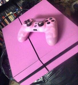 Pink PS4 with camo controller