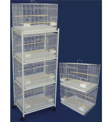 """Lot of 6 of Breeding Bird Cages 24x16x16""""H Whit With Stand White-692"""