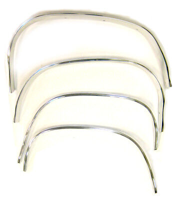 Molding Reproduction - 70-72 Chevelle Reproduction Wheel Well Chrome Trim Molding SET - Golden Star