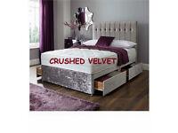 Velvet Crushed Bed + Mattress