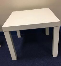 Ikea white square corner table