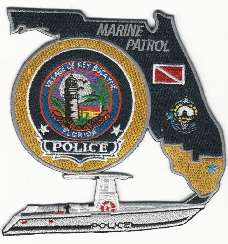 Key Bisc Police Marine Unit State Shaped Florida FL