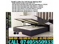 BRAND NEW KING SIZE SINGLE DOUBLE LEATHER STORAGE Bed With Mattress. Anchorage