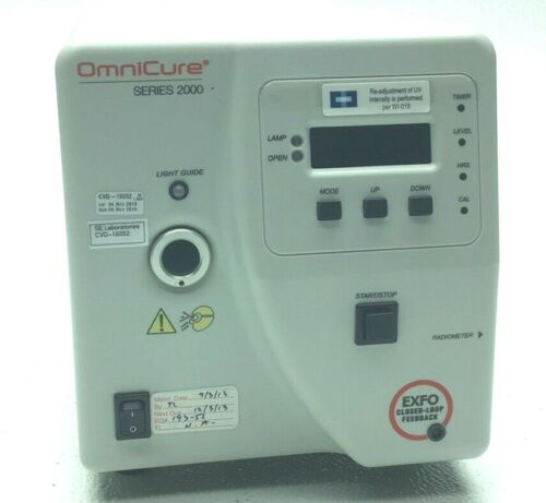 OMNICURE 2000-SERIES UV CURING SYSTEM 0932-HOURS NO LIGHT GUIDE EXFO