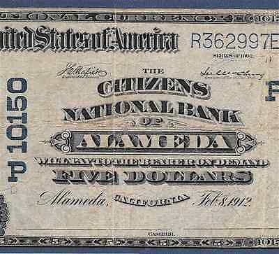 Ca 1902  5     Alameda  California    Pcgs Fine 12    Hard To Find