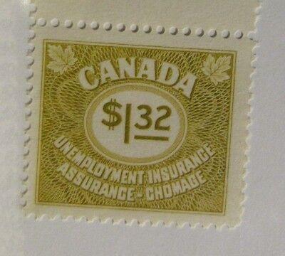 Canada Bob  Fv78    Mnh   1 32 Unemployment Insurance Stamp