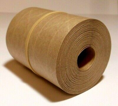 50-foot Reinforced Paper Tape Roll Gummed Brown Kraft Shipping Packaging Sealing