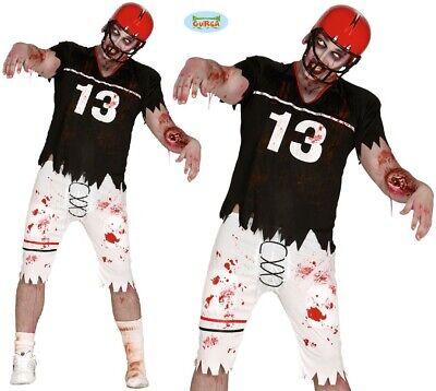 Herren Halloween Zombie Quarterback Kostüm Amerikanische Fußballspieler - Fußball Herren Kostüm