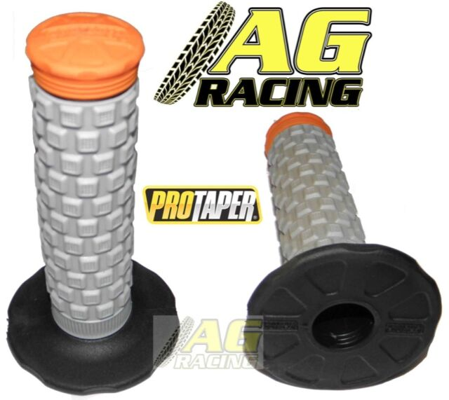 Pro Taper Pillow Top Grey Black Orange Grips For Yamaha YZ YZF WR WRF DTR New