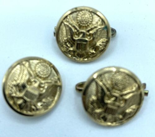 WWII Military Jacket LOT OF  3 Buttons Waterbury Brass US Army W21