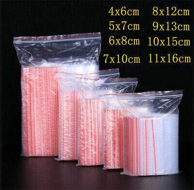 100pcs Small Zip Lock Plastic Bags Reclosable Transparent Bag Shoe Bag Vacuum Hi