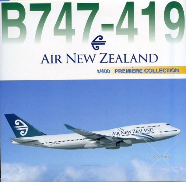 RARE AIR NEW ZEALAND Boeing 747-419 1:400 Die-Cast Scale Model Aircraft #55131 from Dragon Wings