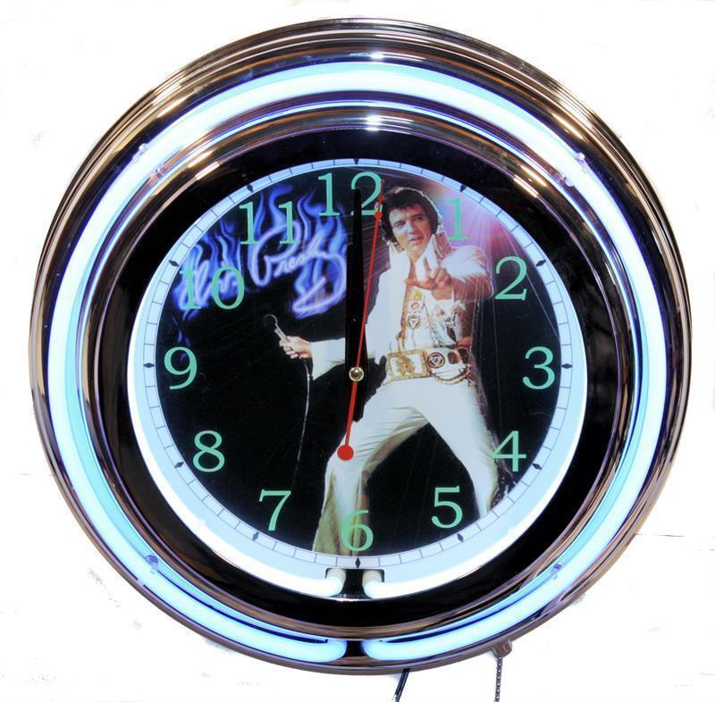 Elvis Neon Clock New Wall Clock Lifestyle Lighting