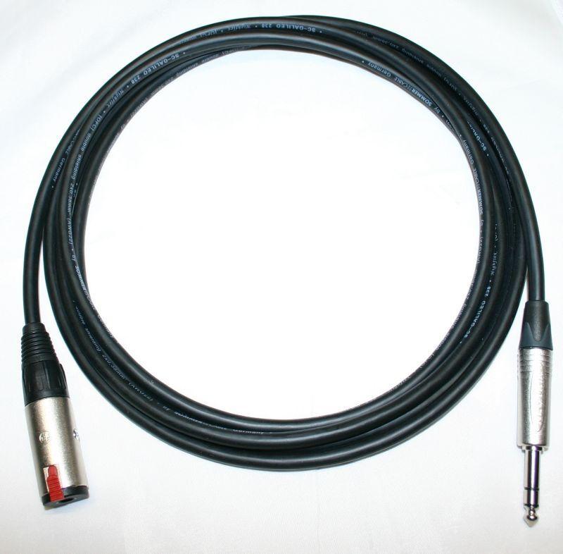 Sommer cable Galileo 6,3mm Klinke Kopfhörer Verlängerungskabel mit Neutrik