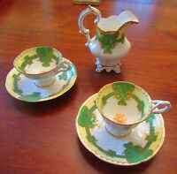 150 Year Old - Creamer, Tea Cup, Coffee Cup & Saucers