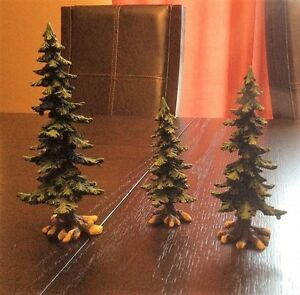 Dept 56 Pine Trees with Pine Cones - Set of 3 - REDUCED
