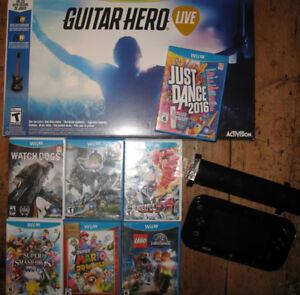 NINTENDO Wii U + Jeux + Guitar Hero (neuf)