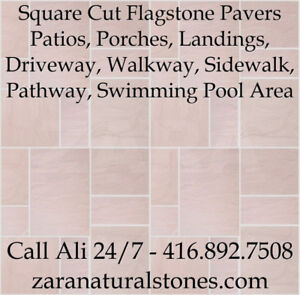 Pink Sandstone Square Cut Flagstone Indian Stone Patio Flagstone
