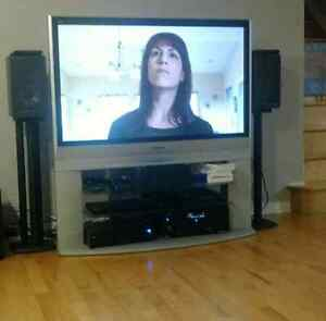 "Panasonic 50"" plasma high definition TV and stand"