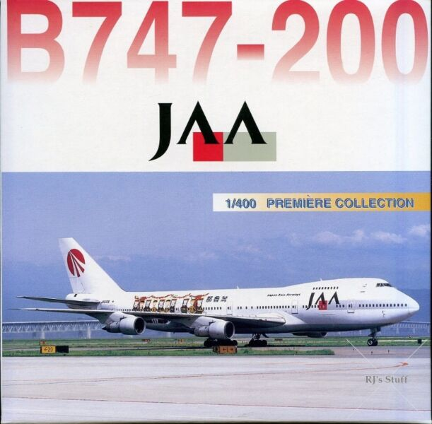 RARE Dragon Wings #55372 JAPAN ASIA AIRWAYS (JAA) Boeing 747-200 1:400 Scale Model Aircraft