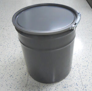 5 Gallon Pail Grey with Lid, Lever Lock (6pcs.)