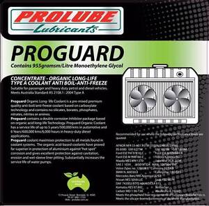 PROLUBE PROGUARD ORGANIC LONGLIFE COOLANT, Longlife Concentrate Arundel Gold Coast City Preview