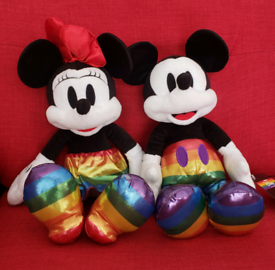 Brand new with tags Rainbow Disney Collection Mickey or Minnie Rainbow