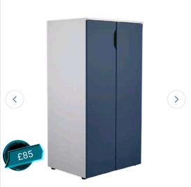 Blue 2 Door Wardrobe only £85. Real Bargains Clearance Outlet Leiceste