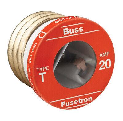 Bussmann  20 amps 125 volts Plastic  Dual Element Plug Fuse  4 pk