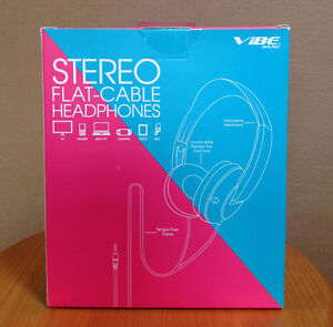 BRAND NEW stereo flat cable headphones vibe sound $15 Kitchener / Waterloo Kitchener Area image 2