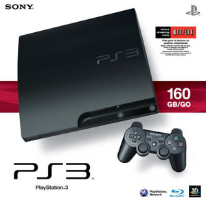 PS3 slim 160GB CECH-3001A + controller/cables + 42 games