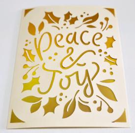 Handmade Card. Peace & joy.