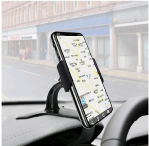 Clip on dash cell phone holder