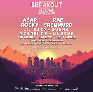 1 VIP BREAKOUT FESTIVAL TICKET FOR SALE