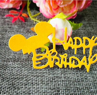 Stanzschablone Happy Birthday Maus Weihnacht Hochzeit Geburtstag Karte Album DIY