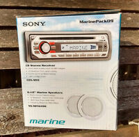 Sony Marine Stereo CD Receiver, iPod/MP3 aux in, 2 Speakers, NEW