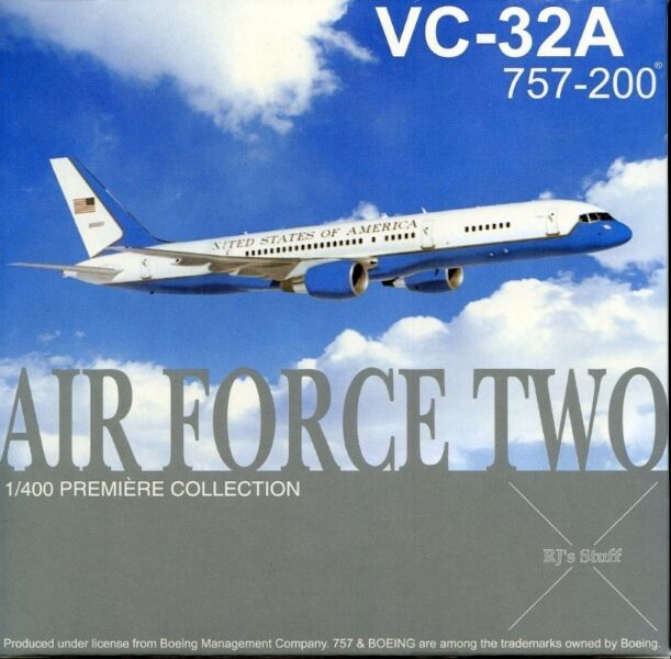 RARE United States Air Force Two VC-32A Boeing 757-200 1:400 Scale Model Aircraft #55467 DragonWings