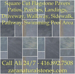 Imperial Black Square Cut Flagstone Indian Stone Patio Flagstone