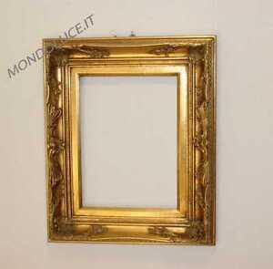 Cornice in legno lavorato oro per quadro 30x40 ebay for Cornice per quadro