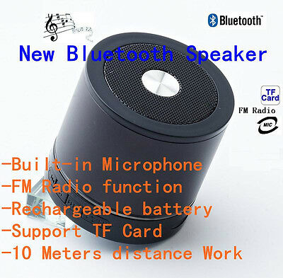 Black Bluetooth Wireless Speaker Mini Portable Super Bass F Apple Samsung Tablet