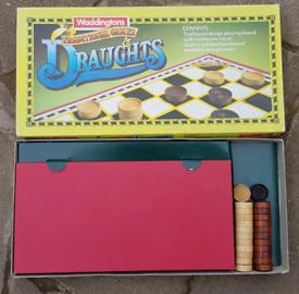 waddingtons traditional games draughts, 1990